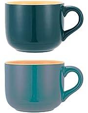 TeenFighter Porcelain Large Oatmeal Mug - 23 Ounces(680mL) Wide Coffee Mug, Breakfast Cup and Soup Bowl, Microwave and Dishwasher Safe, Ceramic Mug for Milk, Tea, Fruit, Ice Cream…
