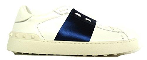 VALENTINO GARAVANI - Zapatillas de Piel para hombre Blanco Bianco + Blu