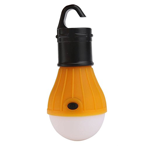 Price comparison product image 1-Pc Radiant Fashionable 3-Modes Q5 3-LED Lantern Night Lights High Power Lightweight Tent Hanging Bivouac Pocket Fishing Activities Car Repairs Bright Color Yellow