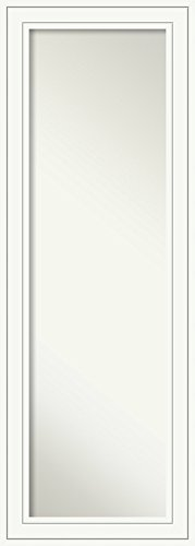 Full Length Mirror | Craftsman White Mirror Full Length | Solid Wood Full Body Mirror | On The Door Mirror 18.88 x 52.88