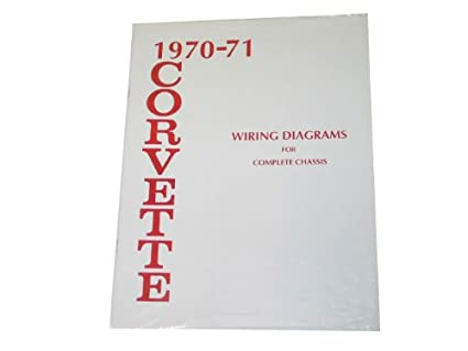 amazon com 1970 1971 corvette wiring diagram book automotive 1982 corvette wiring schematic 71 corvette wiring diagram #14