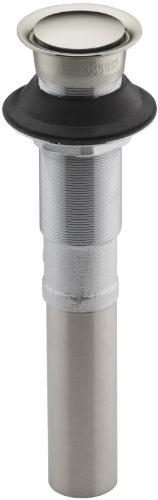 (Kohler K-7124-SN Pop-Up Clicker Drain Without Overflow, Vibrant Polished Nickel)