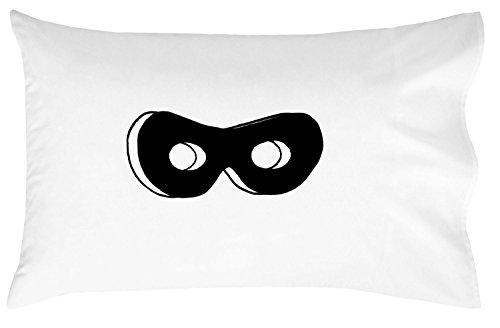Oh, Susannah Superhero mask (Black) Toddler Size Pillowcase (1 Pillow Cover 14 x 20.5 Inches)