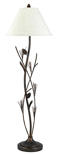 (Cal Lighting BO-961FL Pine Twig Iron Floor Lamp)
