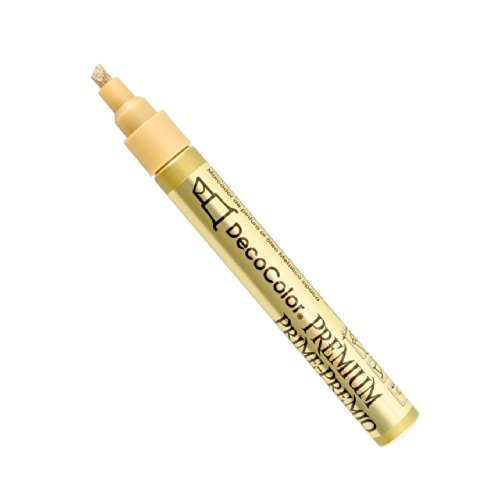 (Uchida of America 350-CGLD DecoColor Premium 3 Way Chisel Point Pen, Gold )