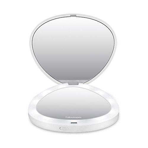 Tresutopia Led Compact Mirror Folding Travel Mirror