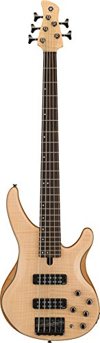 - Yamaha TRBX605 5-String Flamed Maple Bass Guitar, Natural Satin