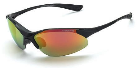 12 Pack Crossfire 1528 Cobra Safety Glasses Red Mirror Lens - Matte Black Frame by Crossfire