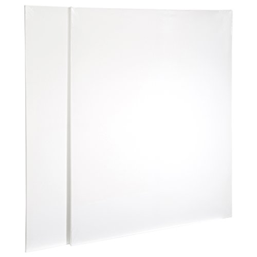 Artlicious - Super Value 2 Pack - 36x48 Pre-Stretched Cotton Canvas Panel Boards - Use with All Acrylics, Oils and Other Painting Media