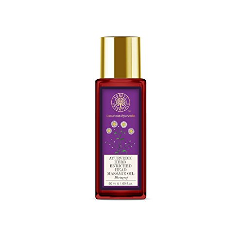 Forest Essentials Ayurvedic Herb Enriched Head Massage Oil, Bhringraj, 50ml