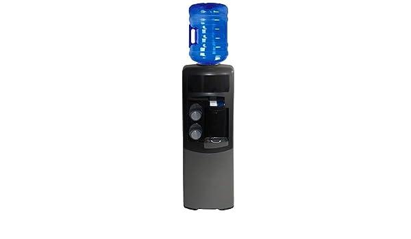 Dispensador Agua, Fuente EMAX de botellón, Negra y Gris. Agua fría y Natural. Mejor Sistema de higienización del Mercado. Maquina de Agua Fria y Natural, ...