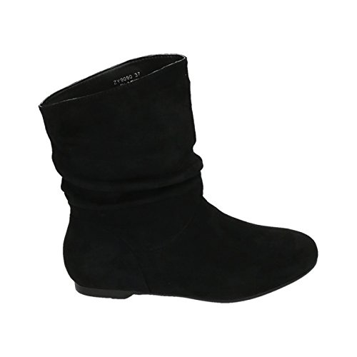 King Shoes Women's Schlupfstiefel Black ktZ7LeG