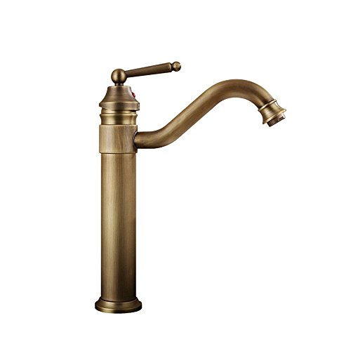 YSRBath Modern Bathroom Sink Faucet Antique Punch Hot And Cold Water Kitchen Bathroom Basin Mixer Tap Basin Faucet
