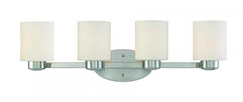 - Dolan Designs 3434-09 4Lt Bath Satin Nickel Brookings 4 Light Bathroom Fixture,