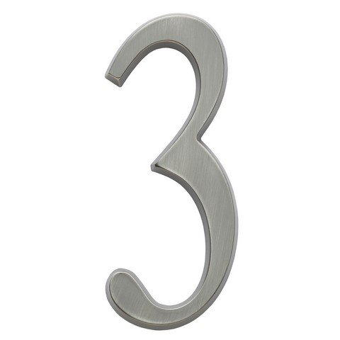Whitehall Products 11213 Design-it Number Standard Plaque - Satin Brass44; No. 3 ()