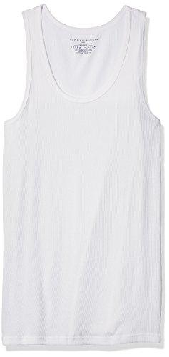 Tommy Hilfiger Men's Undershirts 4 Pack Cotton Classics a-Shirts, White, ()