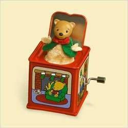 Hallmark Keepsale Pop! Goes The Teddy Bear Jack in the Box Memories 2006