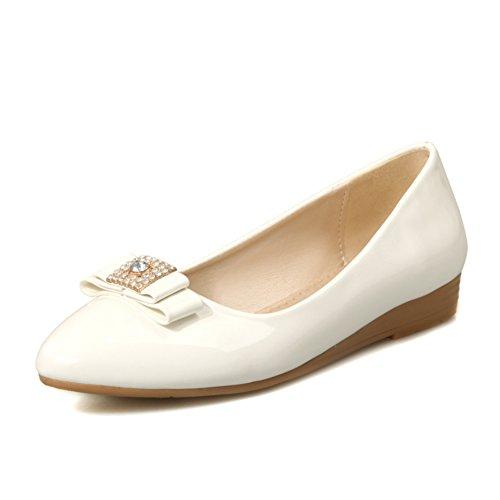 Versión coreana en primavera y verano cuñas/Rhinestone arco cabeza zapatos ligeros/enano con zapatos de las mujeres embarazadas B