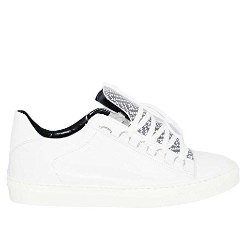 sneakers uomo balen bassa bianco nero seregrafo balen scarpe vera pelle made in italy