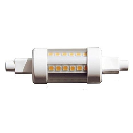Bombilla lineal LED R7S J78, 5W 78mm x 23,5mm, luz blanca natural 4000ºK 450 Lm.: Amazon.es: Iluminación