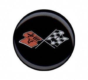 Grant 5632 Chrome Horn Button (Corvette Flags)
