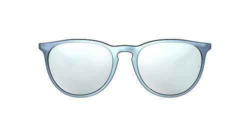 Ray-Ban RB4171 Erika Round Sunglasses, Grey Mirror Flash Grey/Silver Mirror, 54 mm (Ray-ban Erika Braun)