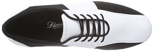 DiamantDiamant - Zapatillas de Baila Moderno y Jazz Hombre Varios Colores - Mehrfarbig (Schwarz/Weiß)