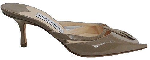 Jimmy Choo, Zoccoli donna Marrone Taupe Patent 36