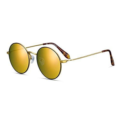 Al Gafas Día Sol Viento Redonda San De Cara Gafas Gafas Playa De Sol Hombres Sol De De Sombra Cumpleaños Regalo De Los Aire Polarizado Libre Valentín Golden De So Gafas Decoración Sol De Gafas Mujeres LLZTYJ BqS7fX7