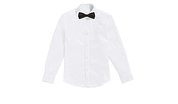 Classic - Camisa Blanca de niños con Pajarita Negro (2 años)
