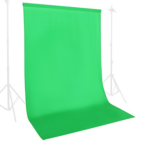 6 x 9-Ft Professional Green Muslin Hanging Booth Video Backdrop Photography Studio Background Screen