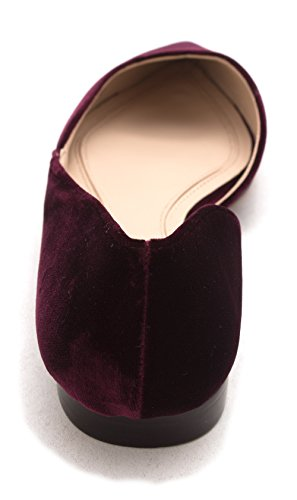 Womens red Flats Medium Pointed Ballet Fisher Marc Toe Sunny 45wq8v4WY