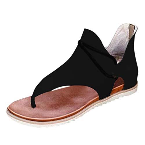 VEZARON Women Casual Sandals Summer Flat Sandals Comfy Flip Flops Super Posh Gladiator