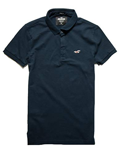Hollister Men's Polo Shirt T Shirt (Navy 18, M)