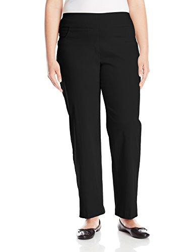 Ruby Rd. Women's Plus-Size Plus Pull-On Solar Millennium Super Stretch Pant, Black, 16W
