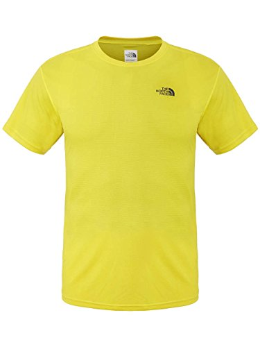 The North Face Mens Short Sleeve Solid Flex Crew Base T-Shirt Acid Yellow L