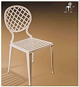 Forja Hispalense Silla de Aluminio Madrid - Blanco: Amazon.es: Hogar