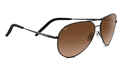 Serengeti Carrara Driver Gradient Sunglasses, Satin Dark Gunmetal