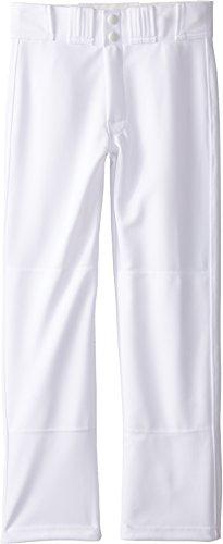 Easton Boys' Youth Rival Baseball Pants (White, Youth Large)
