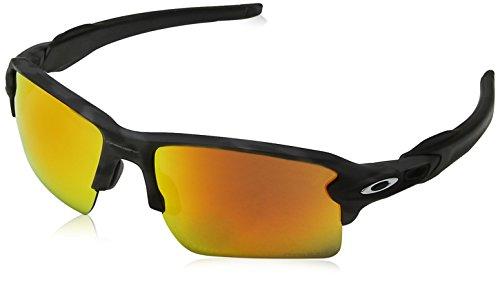 Oakley Men's OO9188 Flak 2.0 XL Rectangular Sunglasses, Black Camo/Prizm Ruby, 59 ()