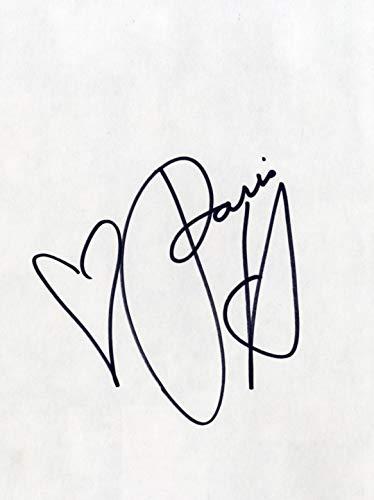 MODEL Paris Hilton autograph, signed book