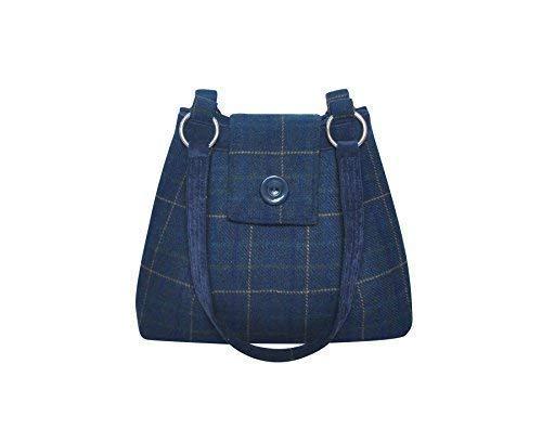 Lana Hombro Marino Tweed Bolso Azul Bolsa de 34x26x10cms Ava Earth Squared xqZwHgH
