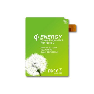 Qi Wireless Charging Energy Card, Samsung Galaxy Note 2 ( 1 PACK ) BY NETCNA