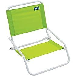RIO Beach Wave 1-Position Beach Folding Sand Chair - Lime