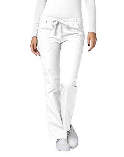 Adar Universal Womens Low-Rise Multipocket Drawstring Straight Leg Pants - 510 - White - L ()