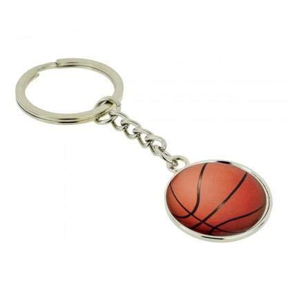 Llavero de Plata con diseño de Baloncesto: Amazon.es: Equipaje