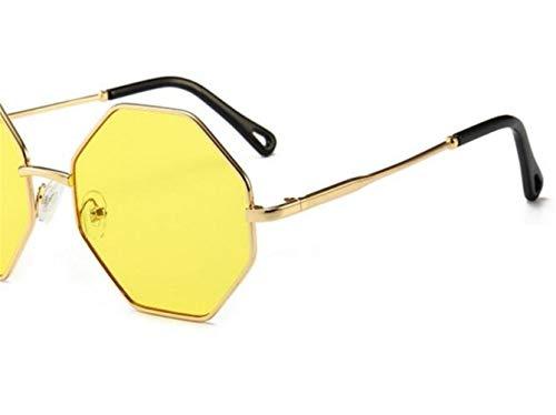 Décoration de Protection Golden Mode de Cadre Hommes UV400 Lunettes Femmes Lunettes Soleil Soleil Grand Extérieure FlowerKui wnWX07w