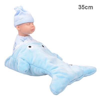 (RubyShopUU Baby Plush Silicone Doll Stuffed Born Reborn Toy Shark Sleeping Bag Newborn Appease Doll Lifelike Kids Stuffed Animal Plush)
