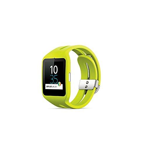 ソニー Bluetooth4.0 リストバンド型活動量計 ライムSONY SmartWatch 3 SWR50-G