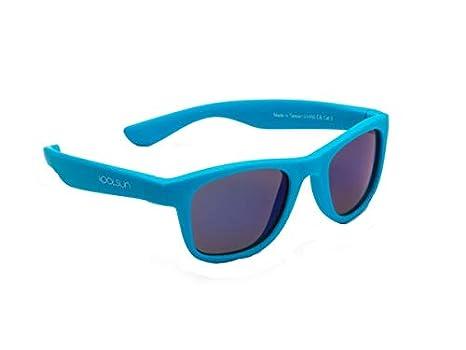 koolsun bebés y niños gafas de sol Wave Fashion 1 + | Neon Blue VERS piegelt | 100% protección UV | Optical Clas 1, cat. 3